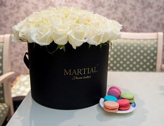 Белые розы в коробке_фото 1