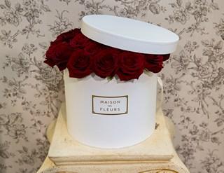 Красные розы в коробке_фото 2