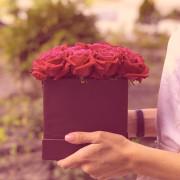 17 роза, оазис, коробка «S»