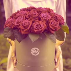 """25 роза, оазис, коробка """"М"""""""
