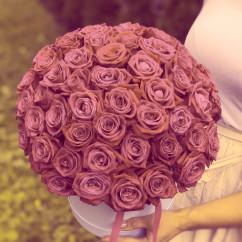 "51 роза роза, оазис, коробка ""М"""