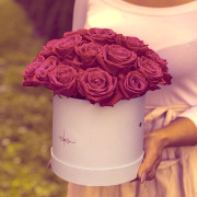 35 роза, оазис, коробка «S»