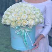 101 роза, оазис, коробка «L»